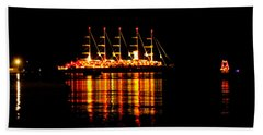 Nightlife On The Water Hand Towel