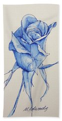 Niki's Rose Hand Towel by Marna Edwards Flavell