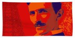 Nikola Tesla #1 Bath Towel