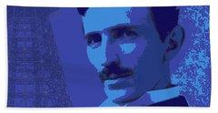 Nikola Tesla #2 Bath Towel