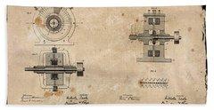 Nikola Tesla's Alternating Current Generator Patent 1891 Hand Towel