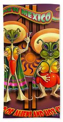 New Mexico Land Of Aliens And Hot Chile Bath Towel