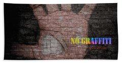Bath Towel featuring the digital art No Graffiti by ISAW Company
