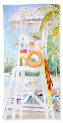 Bath Towel featuring the painting No Problem In Jamaica Mon by Marilyn Zalatan