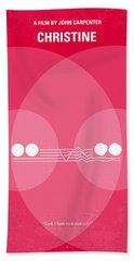 No016 My Christine Minimal Movie Poster Bath Towel