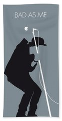No037 My Tom Waits Minimal Music Poster Bath Towel