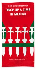 No058 My Once Upon A Time In Mexico Minimal Movie Poster Hand Towel