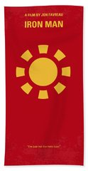 No113 My Iron Man Minimal Movie Poster Hand Towel