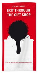 No130 My Exit Through The Gift Shop Minimal Movie Poster Hand Towel