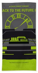 No183 My Back To The Future Minimal Movie Poster-part IIi Hand Towel
