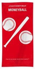 No191 My Moneyball Minimal Movie Poster Hand Towel