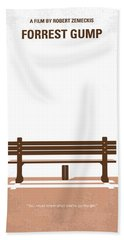 No193 My Forrest Gump Minimal Movie Poster Bath Towel