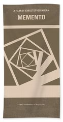 No243 My Memento Minimal Movie Poster Bath Towel