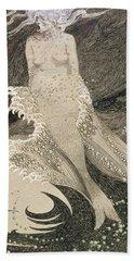 The Mermaid Hand Towel by Sidney Herbert Sime