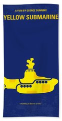 No257 My Yellow Submarine Minimal Movie Poster Bath Towel
