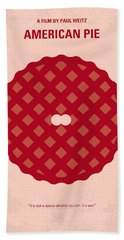 No262 My American Pie Minimal Movie Poster Hand Towel