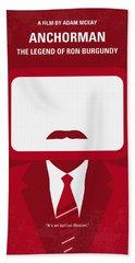 No278 My Anchorman Ron Burgundy Minimal Movie Poster Bath Towel