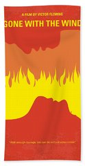 No299 My Gone With The Wind Minimal Movie Poster Bath Towel