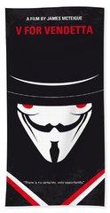 No319 My V For Vendetta Minimal Movie Poster Bath Towel