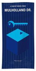 No323 My Mulholland Drive Minimal Movie Poster Bath Towel