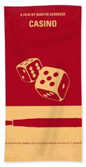 No348 My Casino Minimal Movie Poster Bath Towel