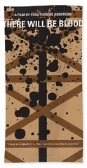 No358 My There Will Be Blood Minimal Movie Poster Bath Towel