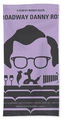 No363 My Broadway Danny Rose Minimal Movie Poster Hand Towel