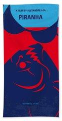 No433 My Piranha Minimal Movie Poster Hand Towel
