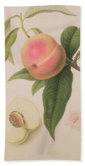 Noblesse Peach Hand Towel by William Hooker