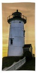 Nobska Lighthouse With Starburst Bath Towel