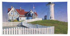 Nobska Point Lighthouse Bath Towel