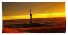Nomac Drilling Keene North Dakota Bath Towel