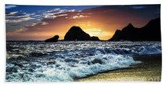 Norcal Sunset On Jenner Beach Hand Towel