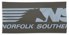 Norfolk Southern Railway Art Bath Towel