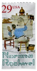 Norman Rockwell Bath Towel