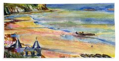 Normandy Beach Hand Towel