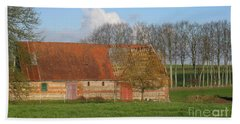 Normandy Storm Damaged Barn Bath Towel