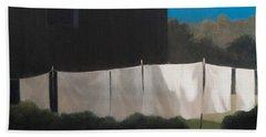 Normas Washing, 2012 Acrylic On Canvas Bath Towel