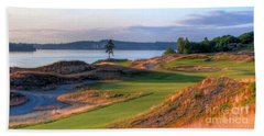 Bath Towel featuring the photograph North By Northwest - Chambers Bay Golf Course by Chris Anderson