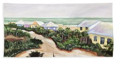 Hand Towel featuring the painting North Captiva by Patricia Piffath