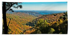 North Carolina Fall Foliage Bath Towel