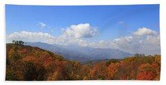 North Carolina Mountains In The Fall Bath Towel