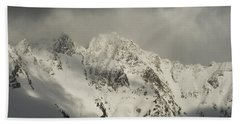 North Cascades Mountains In Winter Hand Towel