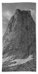 109649-bw-north Face Pingora Peak, Wind Rivers Bath Towel