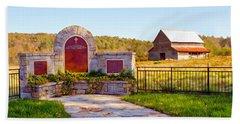 Hand Towel featuring the photograph Landscape Barn North Georgia by Vizual Studio