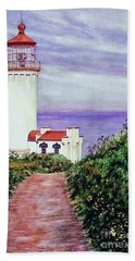 North Head Light House On The Washington Coast Hand Towel