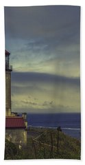 North Head Lighthouse Hand Towel by Jean OKeeffe Macro Abundance Art