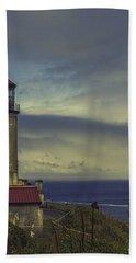 North Head Lighthouse Bath Towel by Jean OKeeffe Macro Abundance Art