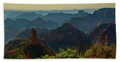 Hand Towel featuring the photograph North Rim Grand Canyon Imperial Point by Bob and Nadine Johnston