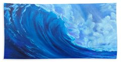 Hand Towel featuring the painting Wave V1 by Jenny Lee